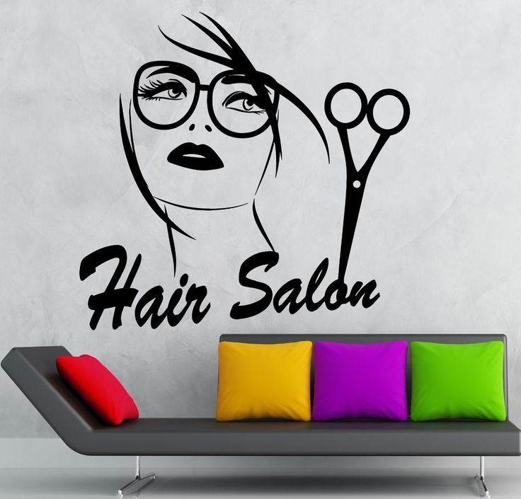 Wall Sticker Vinyl Decal Hair Salon Stylist Beauty Sexy Girl Haircut (ig2152)
