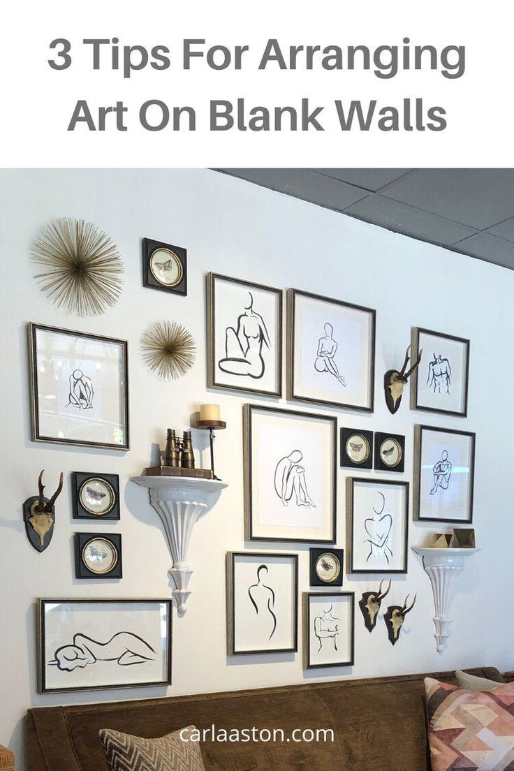 3 Tips For Arranging Art On Blank Walls Designed Decor Accessories Diy Decor Cheap Diy Decor