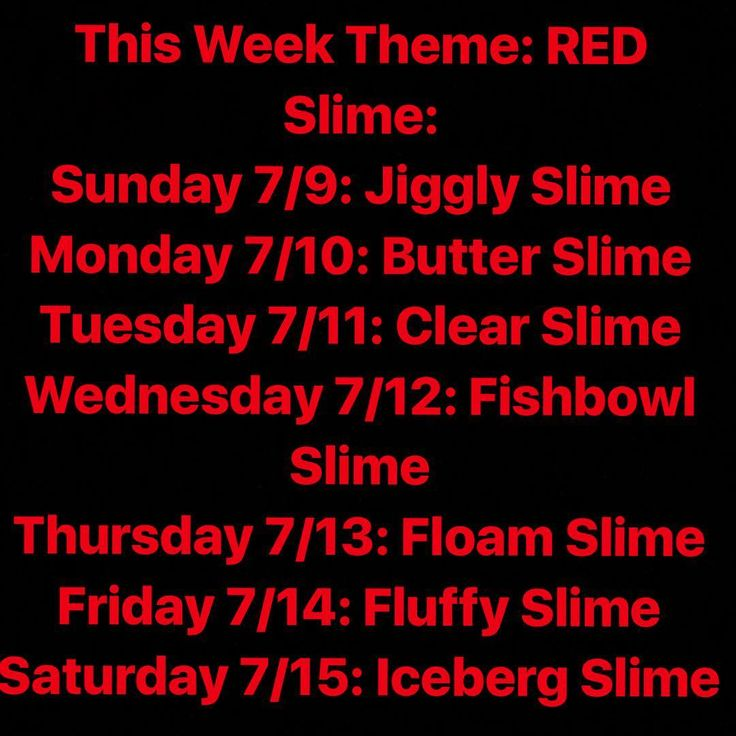 Theme- RED  July 9-15th. Will make my own slime 100% no repost. At the end of the week I might make a slime smoothie with all the slimes. Should I? If I get 100 likes (ik it's a lot) on this post and on the other post I will. Next week is Orange! #beready #july #theme #red #different #types #of #slime #sunday #monday #tuesday #wednesday #thursday #friday #pleasespreadtheword #fff #lfl #justask #rainbowslime #comments #likephoto http://butimag.com/ipost/1553532042644560724/?code=BWPQSltBBtU