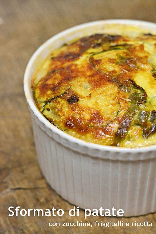 Sformato di patate con zucchine friggitielli e ricotta