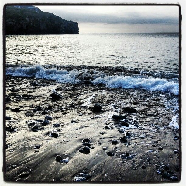 evening tide at St Agnes Cornwall