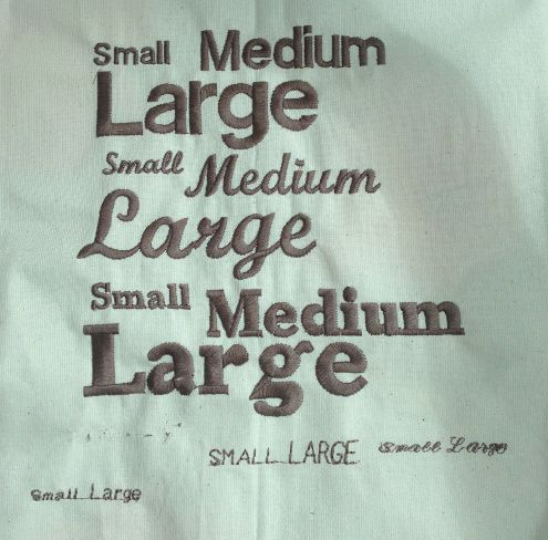 Embroidery fonts on Janome 9900