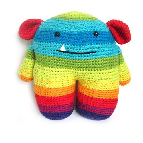 rainbow monster Stuffed Animal Crochet Pattern