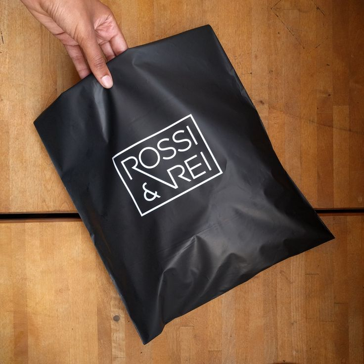 Custom matte black poly mailers. Great for minimal luxury.