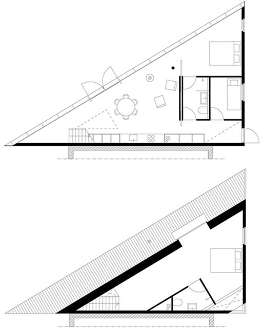 16 best triangle house images on Pinterest | Building plans, Home ...