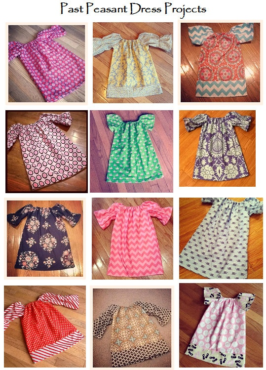 Infant/Toddler/Girl Peasant Dress  by psalmonethirtynine, $30.00