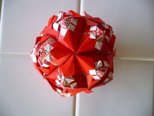 クリスマス 折り紙 折り紙 玉 折り方 : jp.pinterest.com