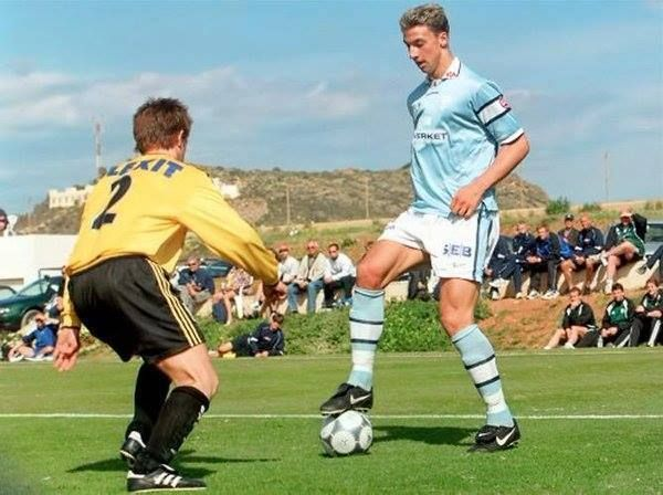 A teenage Zlatan Ibrahimovic at Malmo...