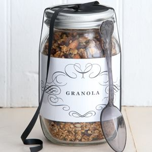 Cranberry granola  Make this tasty gift for friends or family who are health conscious or who have special dietary needs