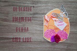 Auguriamo!: Tutorial biglietto porta gift card  #giftcard #card #pasqua #biglietto #nastro #tutoral #youtube #fiori #farfalla #fiore #uovo
