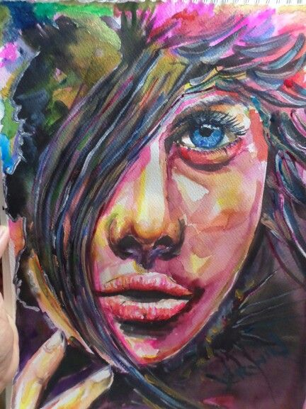 Watercolor portrait 10x15 on acquarello paper