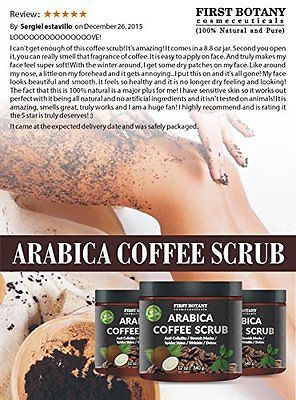 Coffee Body Scrub Organic With Coconut And Shea Butter 12 Oz.