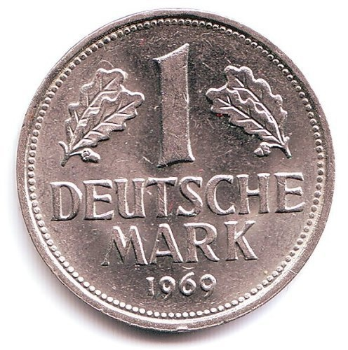1969 Germany 1 Deutsche Mark F Coin Europe Coins Coins