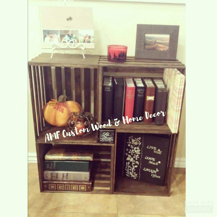 best 25 crate bookshelf ideas on pinterest bookcases. Black Bedroom Furniture Sets. Home Design Ideas