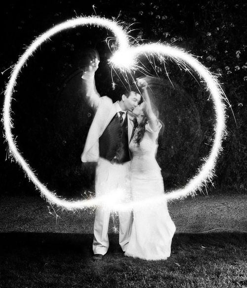 it's really impressive how they do these shots. Let's just say you have to have a good camera and some sparklers