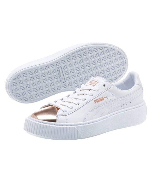 42f00cecd23 Puma Women s Basket Platform Metallic Sneaker