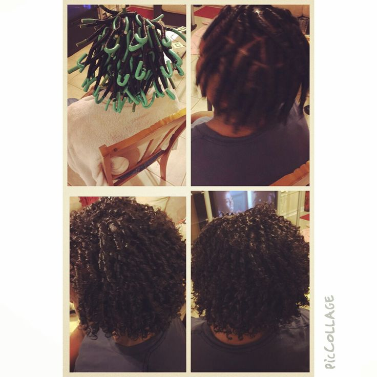 Flexi Rod Straw Set On Relaxed Hair Healthy For Natural