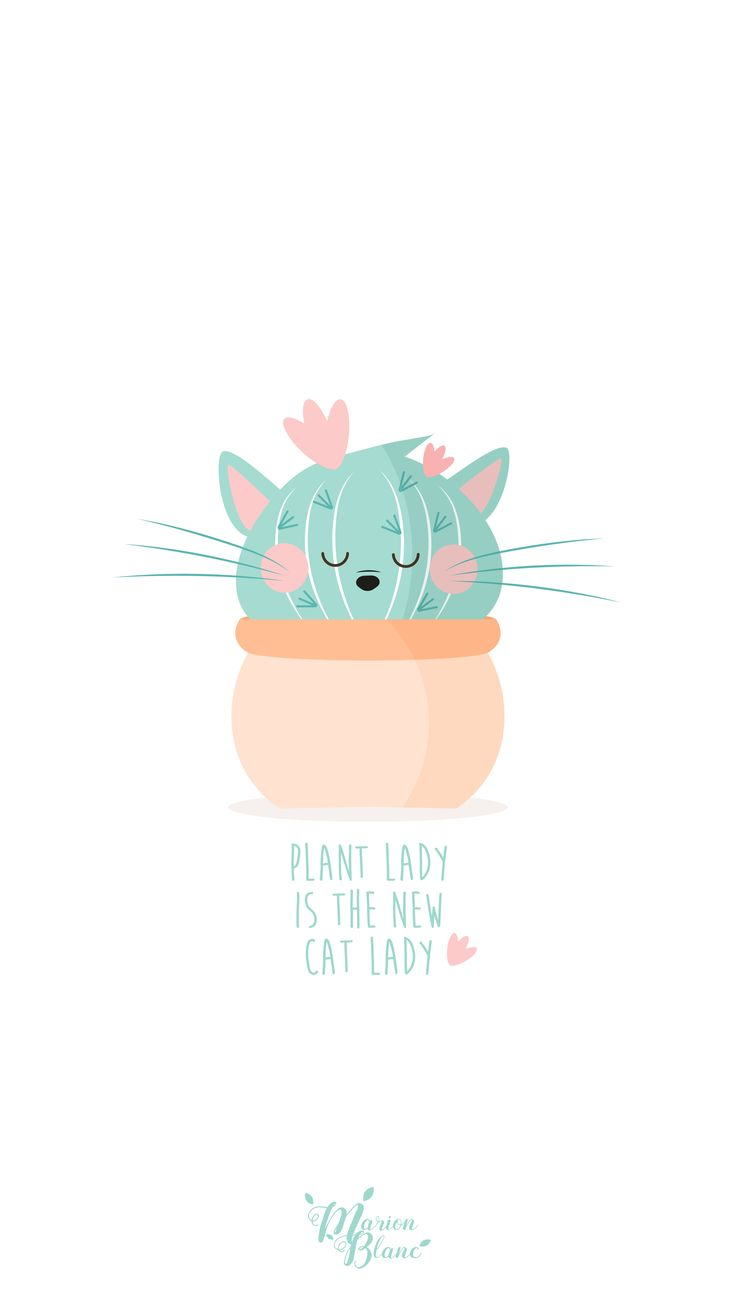 Plant lady is the new cat lady - Marion Blanc Cat cactus