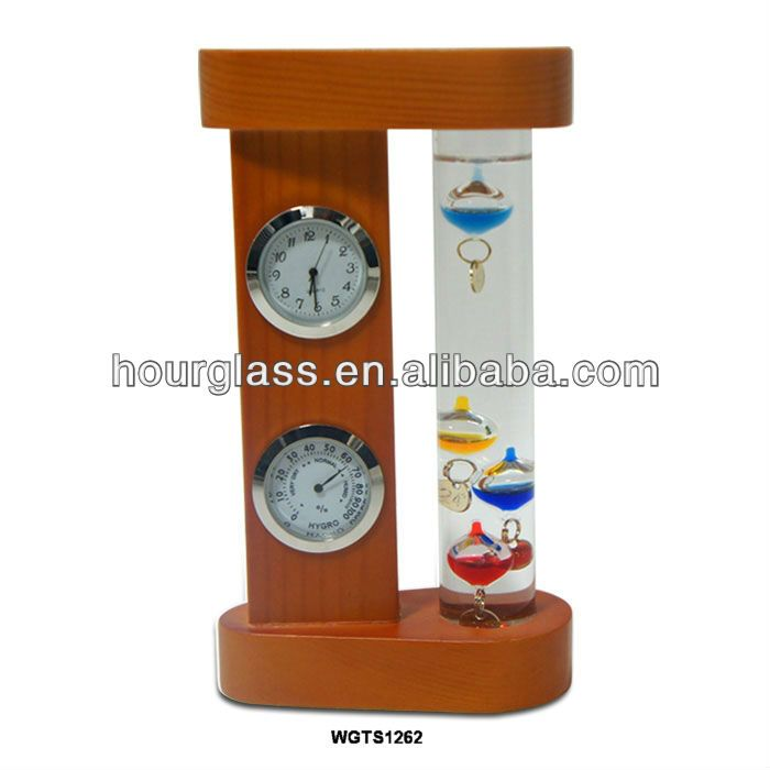Galileo thermometer weather station; wooden weather station; traditional dial weather station $3~$12