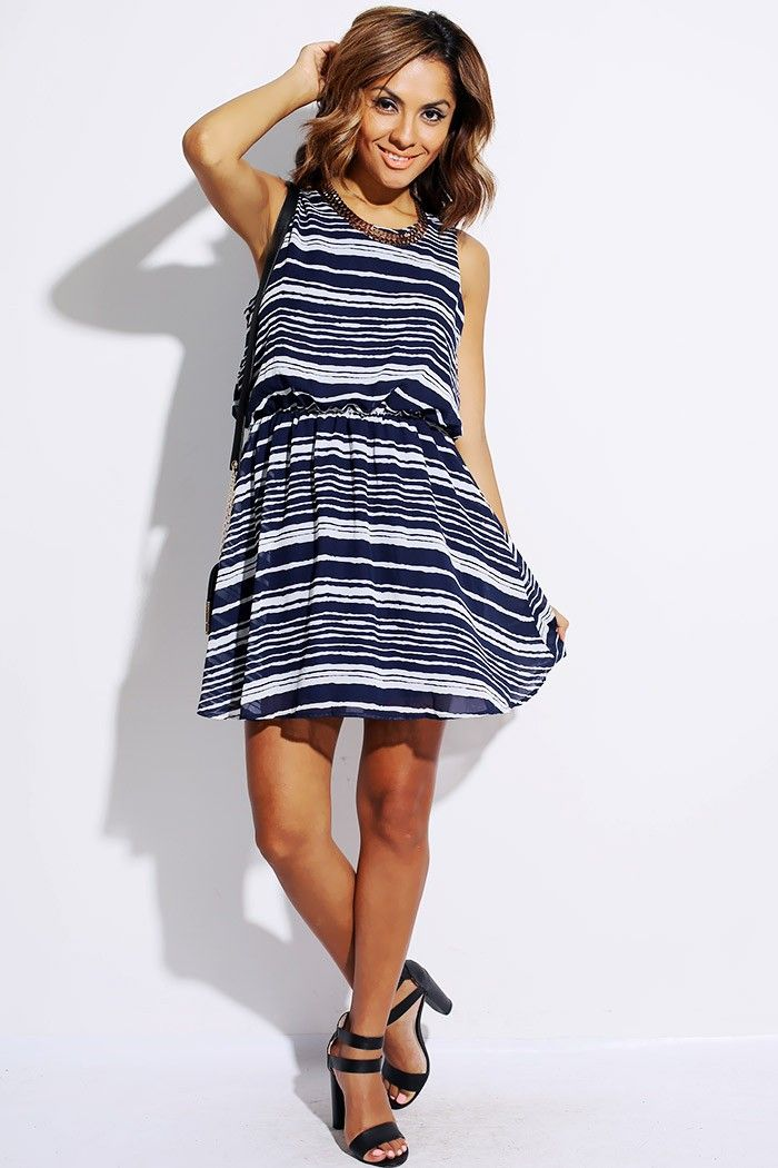 Next blue and white striped maxi dress