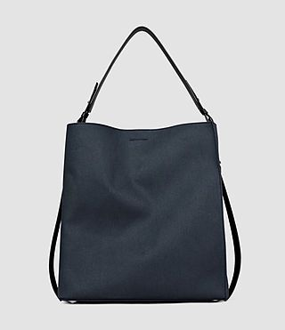 ALLSAINTS PARADISE CANVAS NORTH SOUTH TOTE. #allsaints #bags #canvas #tote #leather #shoulder bags #hand bags #cotton #