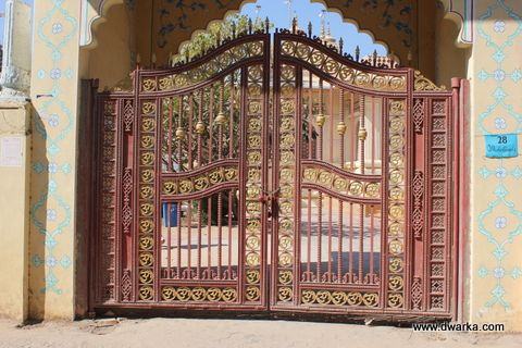 Dwarka | Cast Iron Gate ISKCON Temple, Ahmedabad