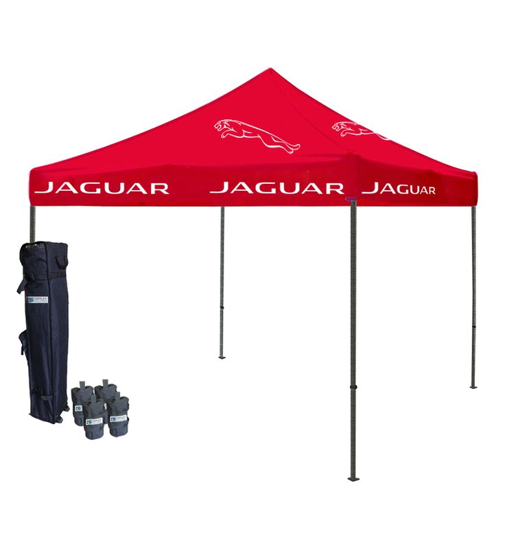 """Tent Depot's Logo canopies are a great addition to your lineup at your next outdoor event. While you may want a central canopy tent with your brand logo, it may be too """"busy"""" to put many colored canopies in a little space. Therefore, you may want to opt for a tent depot blank canopy for your other shelters and use your colored canopy front and center for more impact!"""