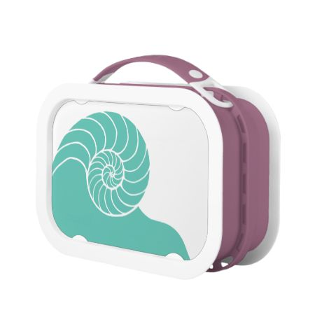 Teal Nautilus Sea Shell Lunch Boxes
