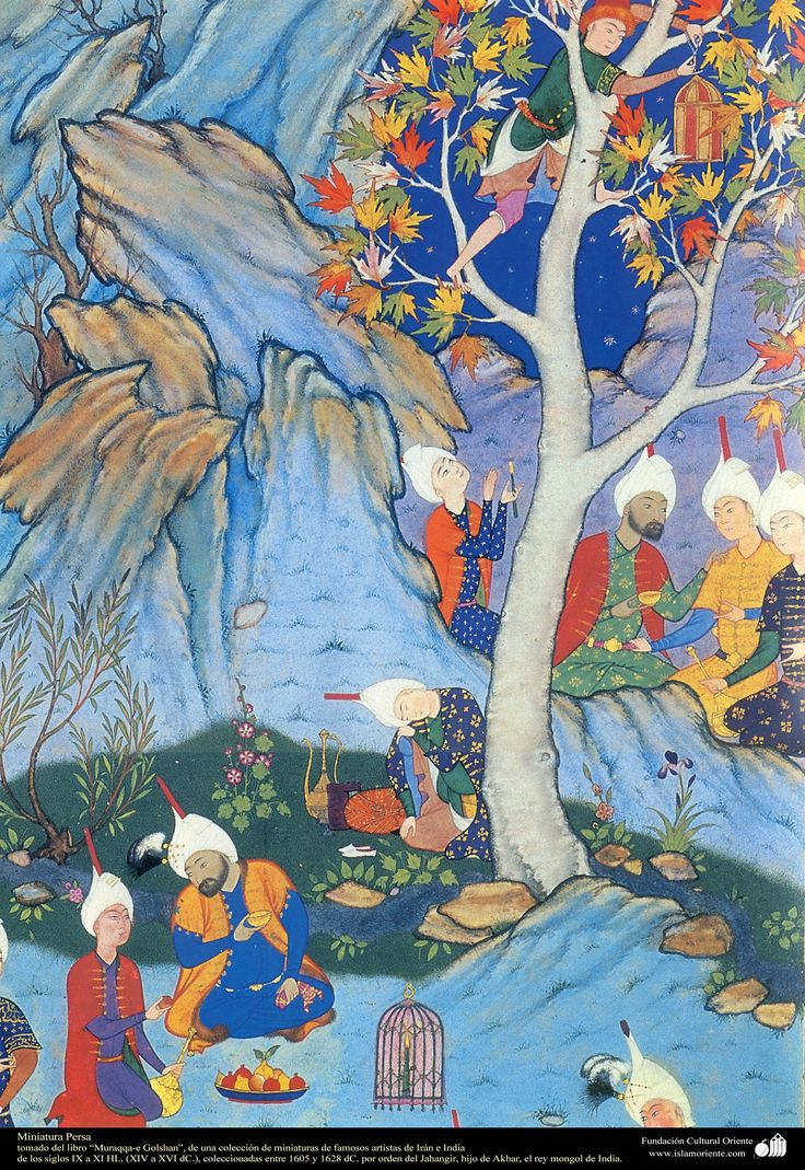 A masterpiece of Persian miniatures - Moraqqaʿ-e Golšan 1605-1628 - شاهکار مینیاتور فارسی - کتاب کوچک مرقع گلشن