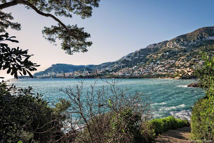 View of Monaco from Roquebrune Cap Martin, France.