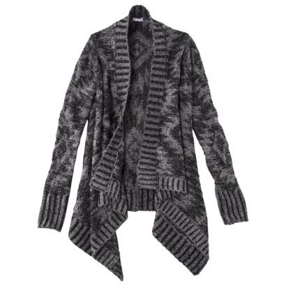 Xhilaration® Junior's Waterfall Cardigan - Black/Gray From Target, good  example of a sweater Cardigan, love it with the long sleeves :) - 35 Best SWEATER WEATHER Images On Pinterest Sweater Weather