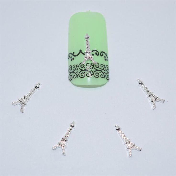 10psc New  Eiffel Tower 3D Nail Art Decorations,Alloy Nail Charms,Nails Rhinestones  Nail Supplies #049