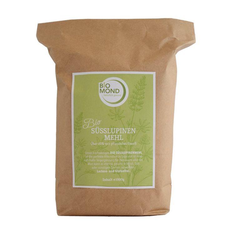 Lupinenmehl von Biomond   Süßlupinenmehl der weißen Süßlupine - Die Alternative zu Soja!   Gewonnen aus der weißen Süßlupine, ist das Mehl nicht gentechnisch verändert, und besitzt ebenso gleichwertig positive Eigenschaften wie ein...