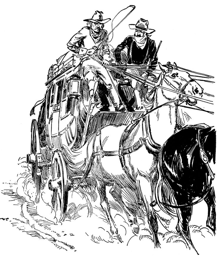 Stagecoach Drawings Stagecoach Clipart Etc Crafts In