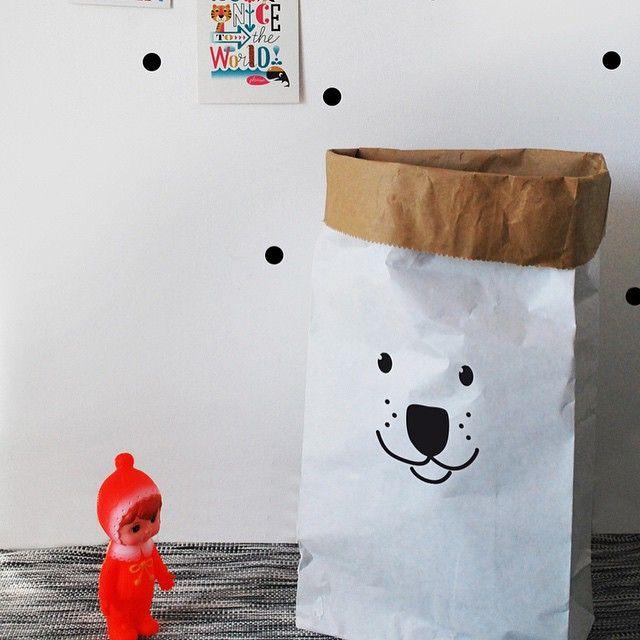 #Bear #Paper #Bag #Kidsroom from www.kidsdinge.com    www.facebook.com/pages/kidsdingecom-Origineel-speelgoed-hebbedingen-voor-hippe-kids/160122710686387?sk=wall       http://instagram.com/kidsdinge