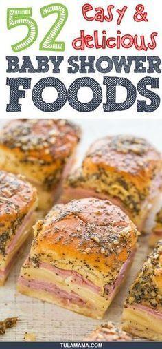 55 Einfache und köstliche Babyparty-Lebensmittelideen
