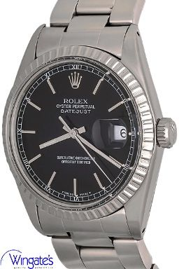 Rolex  - Datejust #Rolex #Datejust #FlutedBezzel #AutomaticWinding #StainlessSteelCase #BlackDial