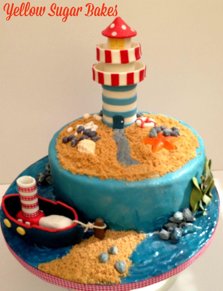 Lighthouse cake for Baby Shower