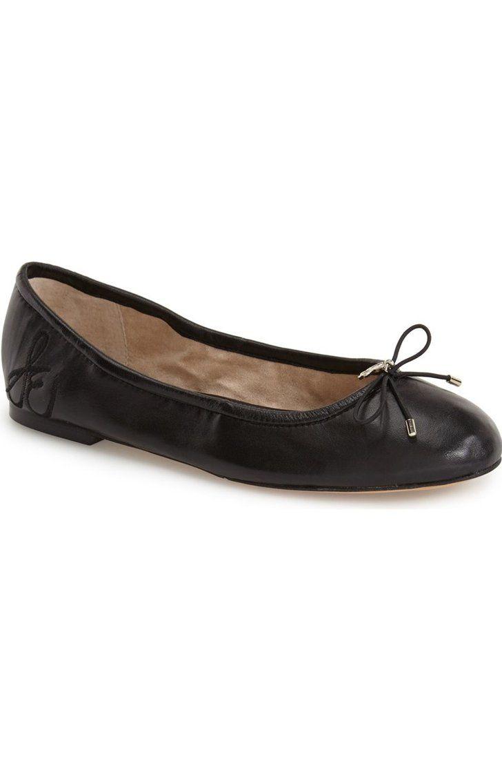 Basic Ballet Flats Ballet flats, Black leather ballet