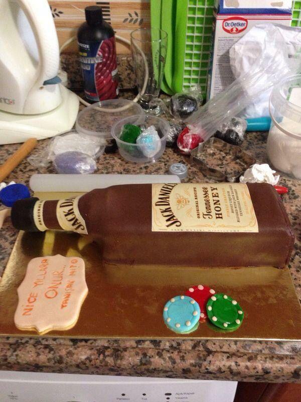 Onur'un doğumgünü pastası  #birthdaycake #fondantcake #jakedanielscake