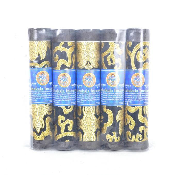 Bhutanese Aromatic Incense Tibetan Meditation Joss Incense Sticks- Pack of 5 Mahakala Incense (FH-INS-1032MAHA)