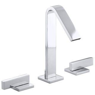 kohler loure chrome grey widespread lavatory faucet
