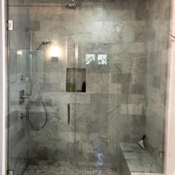 Frameless Walk In Steam Shower Enclosure Showers BathroomMaster