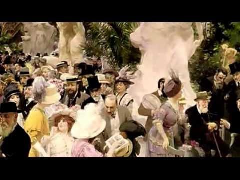 Au Grand Salon d'Artistes au Paris. Valse p. le Piano et Violins en F-Majeur op.1204cv. Au Piano : Herb Weidner. Peinture de Jules Alexandre Grun