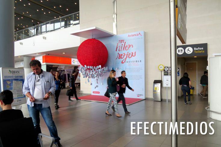 """""""Navidad nos conecta"""" esta es la campaña que nuestro cliente Avianca nos ha confiado en el Aeropuerto Internacional El Dorado  https://goo.gl/r4An7G"""