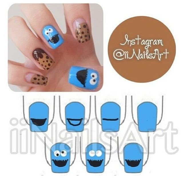 Cookie Monster nails!!!!