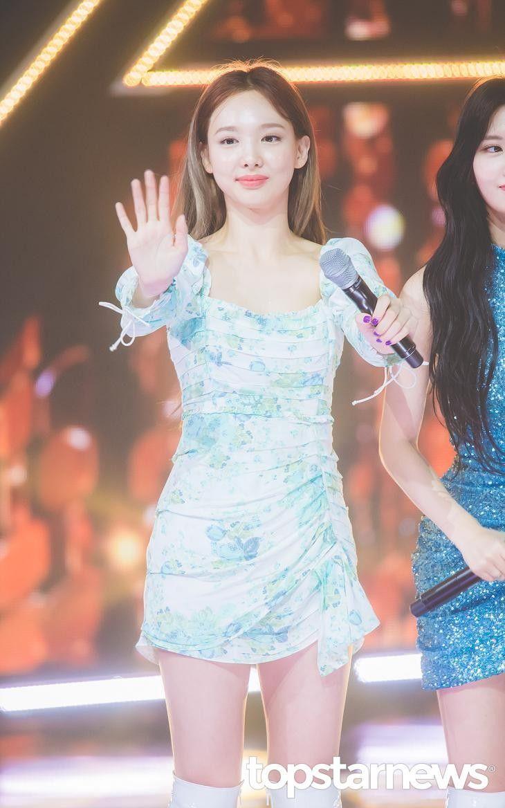 191002 Mbc Music Show Champion Nayeon Twice Nayeon Mini Dress Nayeon Twice