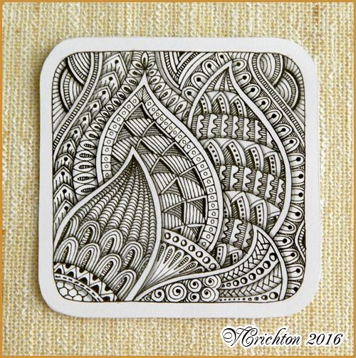 1369 best amazing art tangles doodles images on for Zentangle tile template