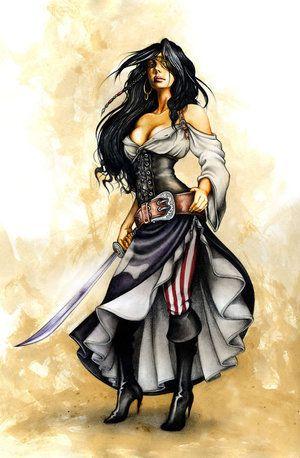 Lady pirate dress design