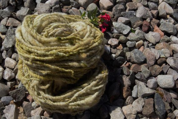 Nature inspired hand dyed hand spun art yarn. by DreamsSanctuary